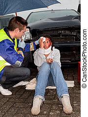 αυτοκινητιστικό δυστύχημα , αναμμένος άρθρο βρέχει