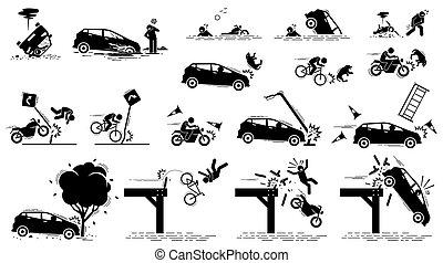 αυτοκινητιστικό δυστύχημα , δρόμος αποτολμώ , κυκλοφορία , mishap.