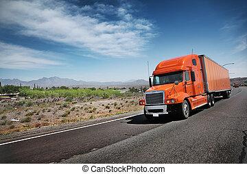 αυτοκινητόδρομος , φορτηγό