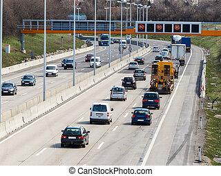 αυτοκινητόδρομοs , άμαξα αυτοκίνητο