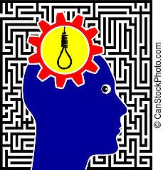 αυτοκτονία , γενική ιδέα , σήμα