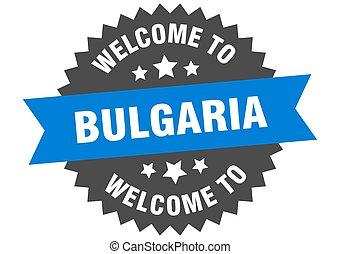 αυτοκόλλητη ετικέτα , καλωσόρισμα , βουλγαρία , αναχωρώ. , ...