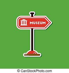 αυτοκόλλητη ετικέτα , σήμα , χαρτί , φόντο , μοντέρνος , μουσείο