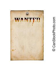αφίσα , άσπρο , καταζητούμενος , απομονωμένος