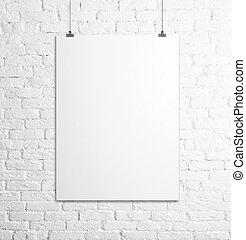 αφίσα , άσπρο