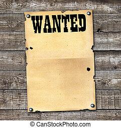 αφίσα , καταζητούμενος