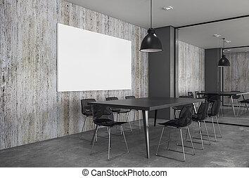 αφίσα , κενό , δωμάτιο συναντήσεων , σύγχρονος