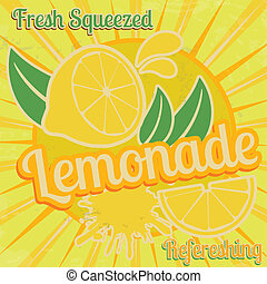 αφίσα , λεμονάδα
