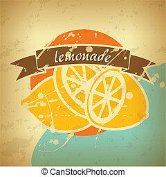 αφίσα , λεμονάδα , retro