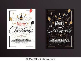 αφίσα , μαύρο , white., xριστούγεννα