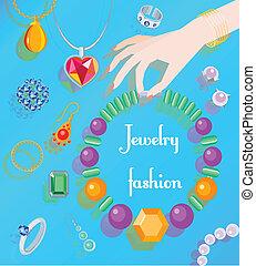 αφίσα , μόδα , κοσμήματα