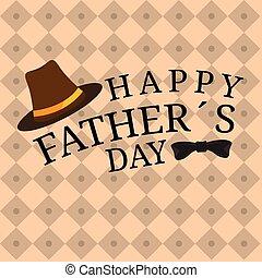αφίσα , πατέραs , παπιγιό , καπέλο , ημέρα