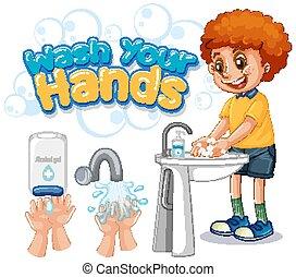 αφίσα , πλένω , σχεδιάζω , δικό σου , ανάμιξη , αγόρι , πλύση