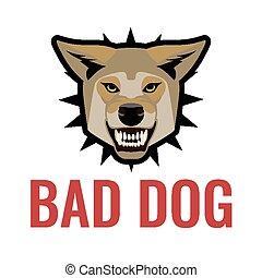 αφίσα , προσέχω , σκύλοs , εικόνα , κακός , μικροβιοφορέας , white., σκύλοι