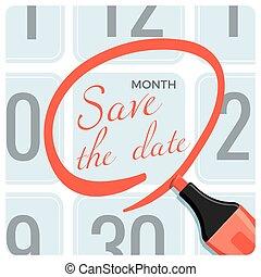 αφίσα , σημαδεύω , ημερομηνία , ημερολόγιο , αποταμιεύω , κύκλοs , κόκκινο