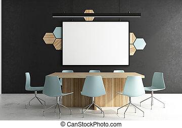 αφίσα , συνάντηση , σύγχρονος , δωμάτιο