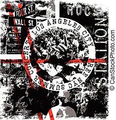 αφίσα , συναυλία , βράχοs