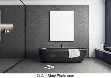 αφίσα , σύγχρονος , κενό , τουαλέτα