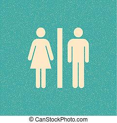 αφίσα , retro , τουαλλέτα