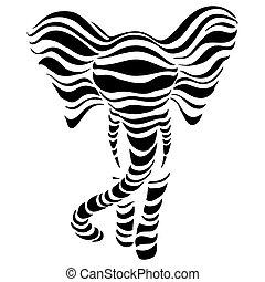 αφαιρώ , απεικονίζω σε σιλουέτα , ελέφαντας