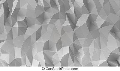 αφαιρώ , γκρί , 3d , χαμηλός , polygonal, φόντο.
