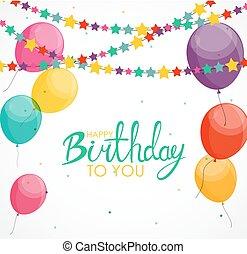αφαιρώ , ευτυχισμένα γεννέθλια , balloon, φόντο , κάρτα , φόρμα , μικροβιοφορέας , εικόνα