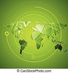 αφαιρώ , ευφυής , πράσινο , τεχνολογία , φόντο