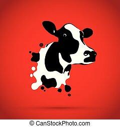 αφαιρώ , κεφάλι , αγελάδα