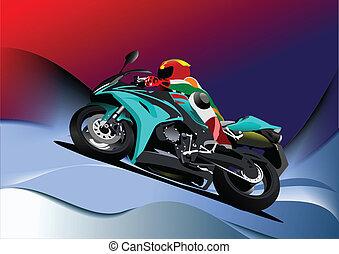 αφαιρώ , φόντο , motorcyc