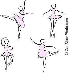 αφαιρώ , χορευτές , θέτω , μπαλέτο