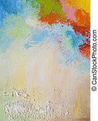αφηρημένος πίνακας ζωγραφικής , ακρυλικός