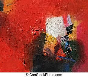 αφηρημένος πίνακας ζωγραφικής
