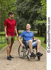 αφιερώνω , αναπηρική καρέκλα , άντραs , φίλοs , ώρα