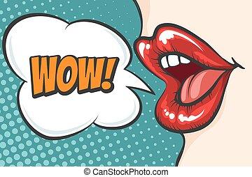 αφρίζω , εκπληκτική επιτυχία , τέχνη , χείλια , κρότος