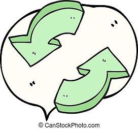 αφρίζω , λόγοs , ανακύκλωση , βέλος , γελοιογραφία