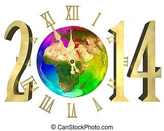 αφρική , - , ασία , ευρώπη , έτος , 2014, καινούργιος , ευτυχισμένος