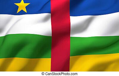 αφρική , κεντρικός , φυσώντας , αέρας , σημαία