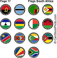 αφρική. , flags., κόσμοs , νότιο
