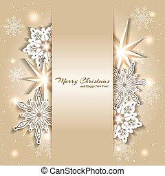 αφρώδης , xριστούγεννα , φόντο , με , νιφάδα χιονιού