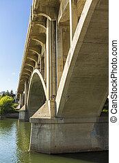 αψίδα , από , ένα , μπετό , γέφυρα