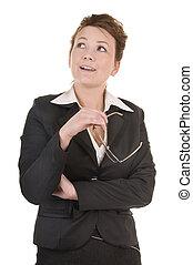 αόρ. του think , γυναίκα , βαθύς , επιχείρηση , ώριμος