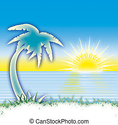 βάγιο , ηλιοβασίλεμα , θάλασσα