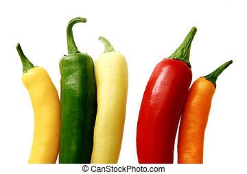βάζω πιπέρι , διάφορων ειδών