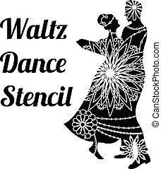 βάλς , χορεύω , στένσιλ