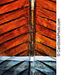 βάρκα , αυστηρός , ξύλινος