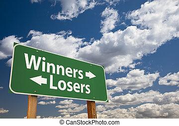 βέβαιη επιτυχία , αποτυχημένος , πράσινο , δρόμος αναχωρώ , πάνω , θαμπάδα