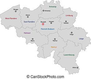 βέλγιο , γκρί , χάρτηs