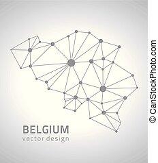 βέλγιο , ευρώπη , περίγραμμα , γκρί , χάρτηs