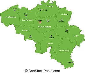 βέλγιο , χάρτηs , πράσινο