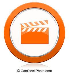 βίντεο , πορτοκάλι , εικόνα , κινηματογράφοs , σήμα